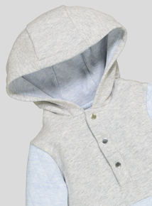 Grey Hooded All In One (Newborn-12 months)