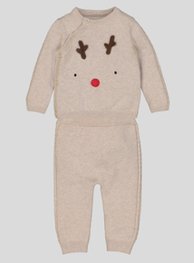 Christmas Reindeer Top and Trouser Set (0 - 24 months)