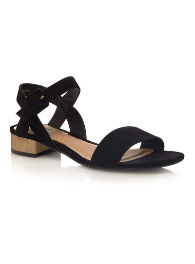 Microsuede Two Part Sandal