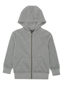 Boys Grey Marl Picot Hoody (3-14 years)