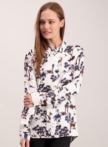 Multicoloured Woodland Print Shirt