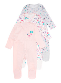 Three Pack Puppy Pal Sleepsuits (3-24 months)