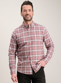 Pink Check Regular Fit Oxford Shirt