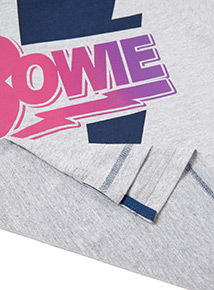 Grey 'Bowie' Slogan T-Shirt (3-12 years)