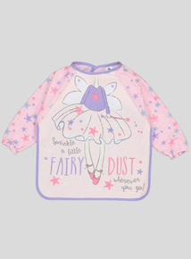Pink Fairy Dust Long-Sleeved Bib (One Size)