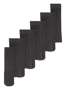 Grey Supersoft Tights 5 Pack