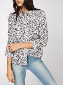 Monochrome Ditsy Western Shirt