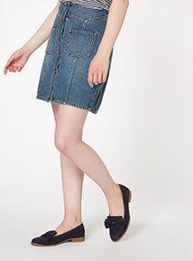 Denim Patch Pocket Mini Skirt