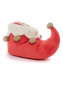 Red Elf Boot Slipper
