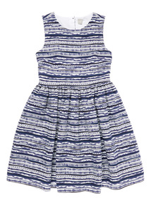 Girls Blue Stripe Dress (3 - 12 years)