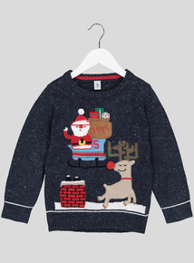 Christmas Character Multicoloured Jumper With Sound (1- 6 Years)