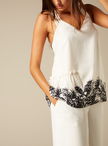 Premium Border Print Sleeveless Top