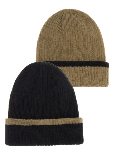 Rib Beanie Hats 2 Pack (1-12 years)