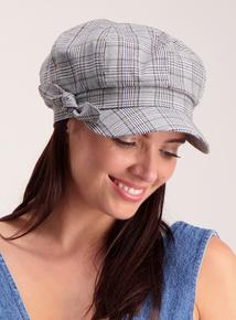 Multicoloured Check Baker Boy Hat