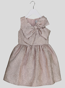 Pale Pink Bow Dress (3-14 years)
