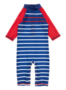 Boys Multicoloured Stripe Sunsafe Swimsuit (9 months - 5 Years)