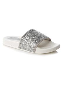 Glitter Strap Sliders