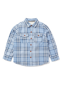 Blue Check Borg-Lined Shirt (9 months-6 years)