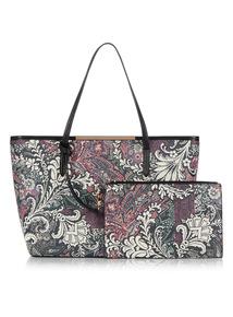 Multicoloured Paisley Print Shopper Bag