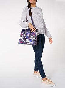 Floral Print Laptop Bag
