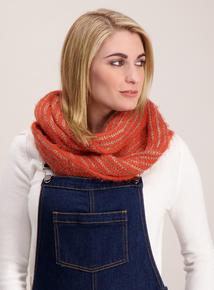 Orange Knit Eyelash Snood