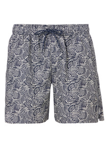 Navy Wave Pattern Shortie