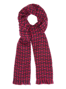 Pink Weave Scarf