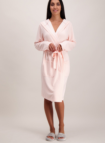 Pink Star Print Jersey Dressing Gown