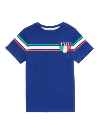 Blue Active Football Italy Top (3 - 12 years)