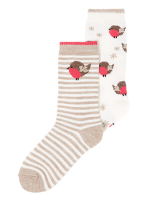 2 Pack Thermal Robin Socks