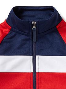 Navy Colour Block Zip Through Jacket (3-14 years)
