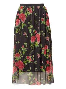 Floral Mesh Skirt