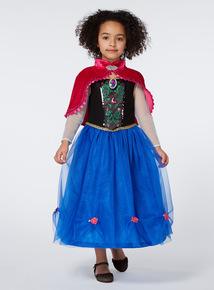 Kids Blue Disney Frozen Anna Sound Costume (2-12 years)