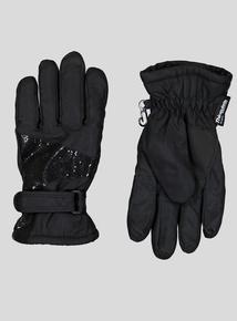 Thinsulate Black Glitter Gloves (1-12 Years)