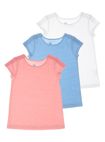 Crochet Lace Tops 3 Pack (3 - 12 years)
