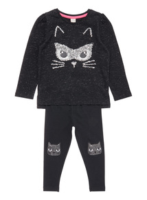 Black Halloween Cat Set (9 months-6 years)