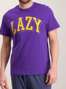 Online Exclusive Purple & Blue 'Lazy' Pyjamas