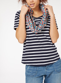 Scarf Layer Printed Top