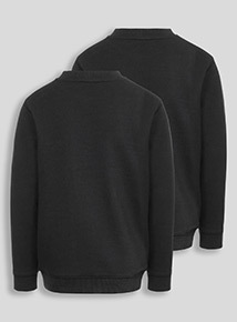 Black Crew Sweatshirts 2 Pack (8-16 years)