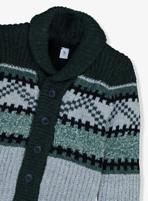 Green Fairisle Chunky Cardigan (9 Months - 6 Years)