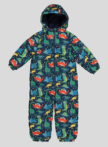 Multi Coloured Dinosaur Snowsuit (9 months - 5 years)