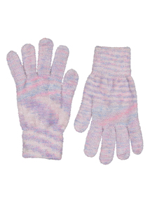 Multicoloured Chenille Gloves