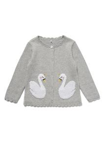 Grey Swan Cardigan (0-24 months)