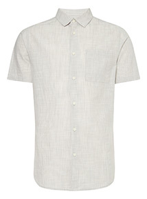 Textured Cotton Regular Fit Shirt