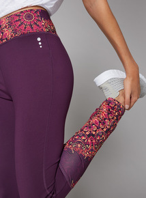 Multicoloured Mandala Print Leggings