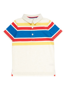 Boys Multicoloured Retro Striped Polo Shirt (9 months - 6 years)