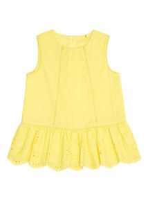 Yellow Schiffli Top (0 - 24 months)