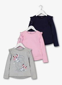 Multicoloured Long-Sleeved Tops 3 Pack (3-14 Years)