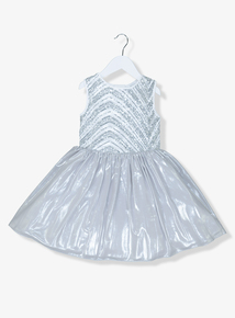 Silver Sequin Detail Occasion Dress (3 - 14 years)
