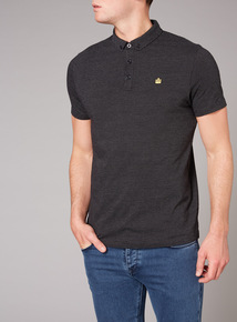 Admiral Black Jacquard Polo Shirt